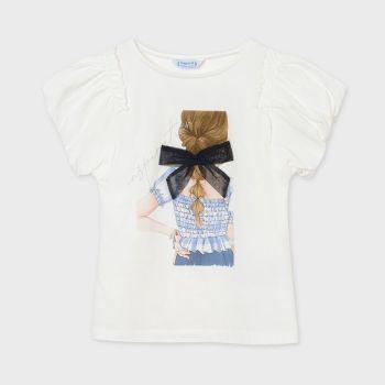 Girls Mayoral T Shirt 6002 Blue 70