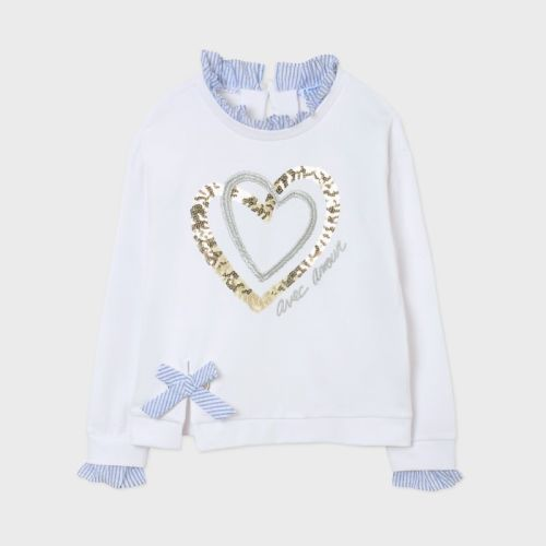Girls Mayoral Pullover 6466 White