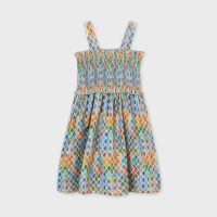 Girls Mayoral Dress 6946 Lemon