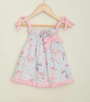 Girls Cuka Blue and Pink Dress 88641