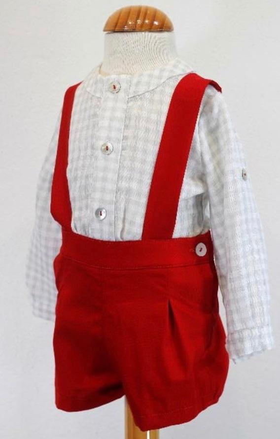 Boys Cuka Silver and Red Set 88602
