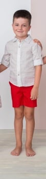 Boys Cuka Silver and Red Set 88612