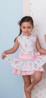 Girls Cuka Blue and Pink Dress 88652