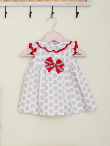 Girls Cuka Silver and Red Dress 88601