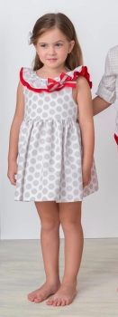 Girls Cuka Silver and Red Dress 88611