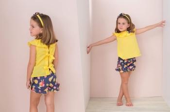 Girls Basmarti Yellow and Navy Set 21132