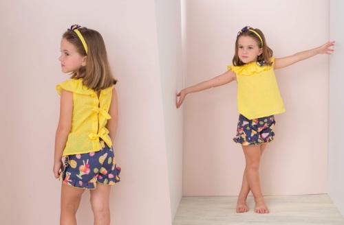 Girls Bas Marti Yellow and Navy Set 21132