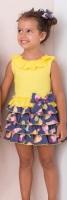 Girls Basmarti Yellow and Navy Dress 21130