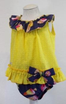 Girls Basmarti Yellow and Navy Set 21120