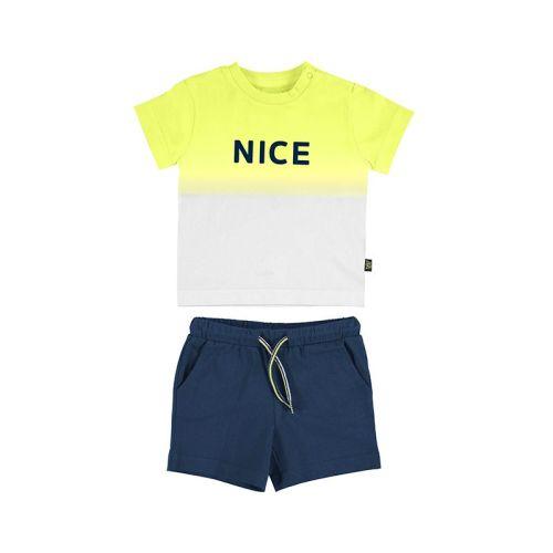 Boys Mayoral T Shirt and Shorts Set 1669 Lime