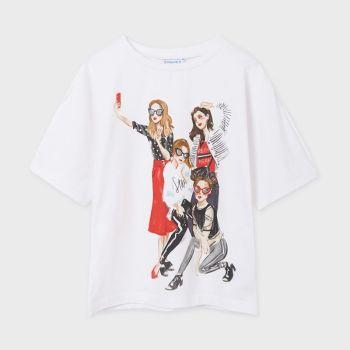 Girls Mayoral T Shirt 6004 White