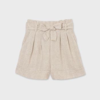Girls Mayoral Shorts 6269 Natural