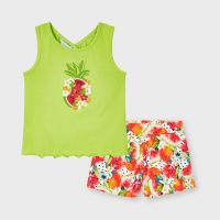 Girls Mayoral Top and Shorts Set 3215 Pistachio 62