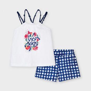 Girls Mayoral Top and Shorts Set 3220 Ink 59