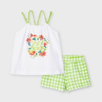 Girls Mayoral Top and Shorts Set 3220 Pistachio 57