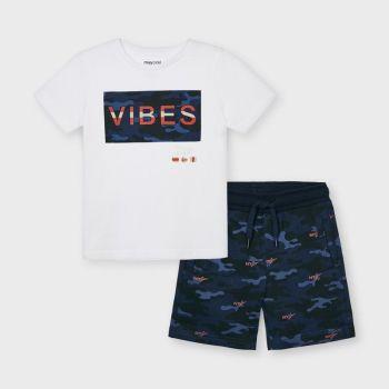 Boys Mayoral T Shirt and Shorts Set 3645 Navy 34