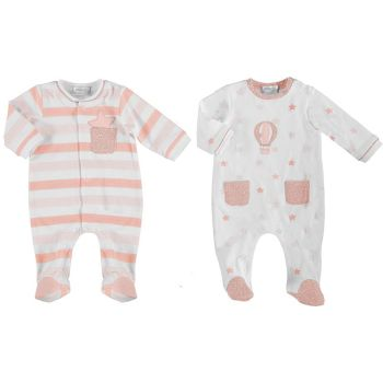 Girls Mayoral Babygrow 1625 - 2 Pack Candy 24