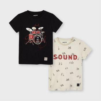 Boys Mayoral T Shirt 2 Pack 3050 Vynil 72
