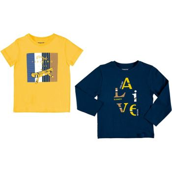 Boys Mayoral Top - 2 Pack 3055 Yellow 80