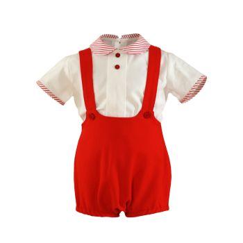 Boys Miranda Red and White Set 195