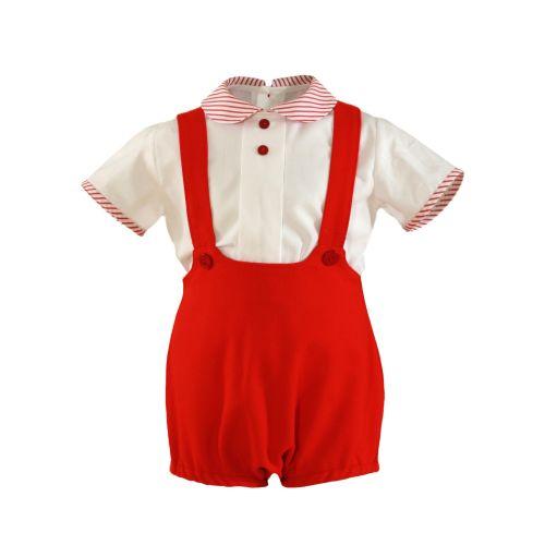PRE ORDER SS21 Boys Miranda Red and White Set 195