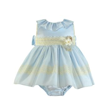 Girls Miranda Blue and Cream Dress and Pants 145