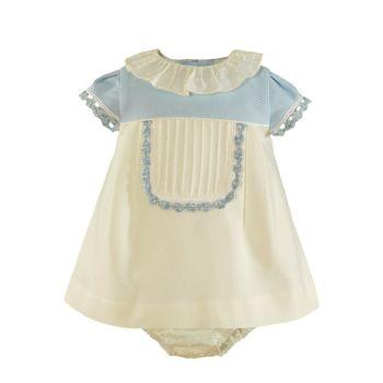 Girls Miranda Blue and Cream Dress and Pants 26