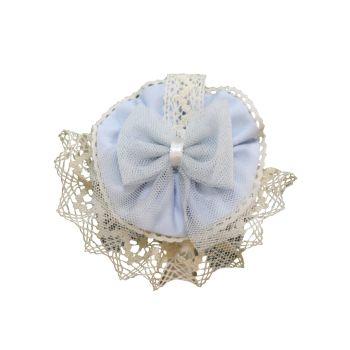 Girls Miranda Blue and Cream Headband 245