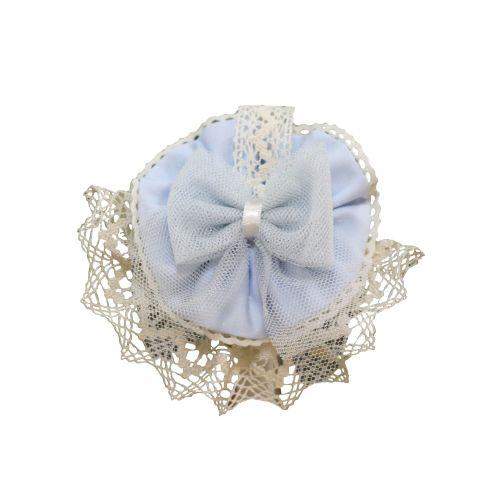 PRE ORDER SS21 Girls Miranda Blue and Cream Headband 245