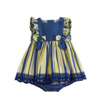 Girls Miranda Blue, Lemon and White Dress and Pants 150