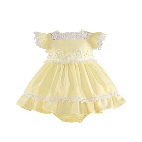 PRE ORDER SS21 Girls Miranda Lemon and White Dress and Pants 141