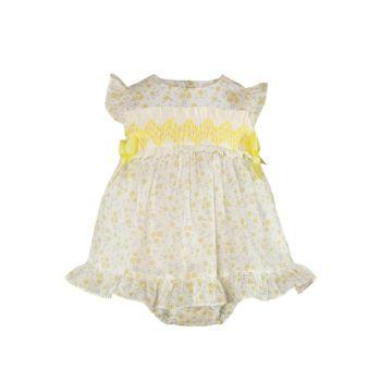 Girls Miranda Lemon and White Dress and Pants 52