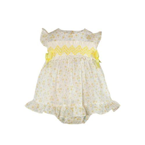 PRE ORDER SS21 Girls Miranda Lemon and White Dress and Pants 52