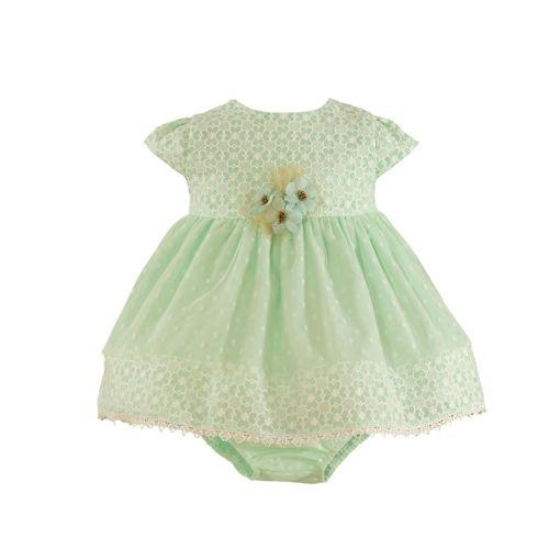 PRE ORDER SS21 Girls Miranda Mint and Cream Dress and Pants 142