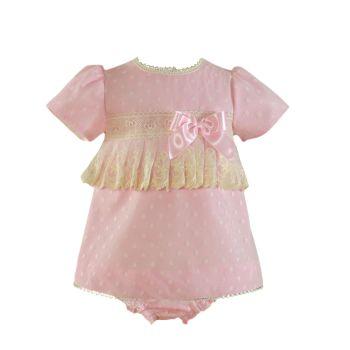 Girls Miranda Pink and Cream Dress and Pants 28
