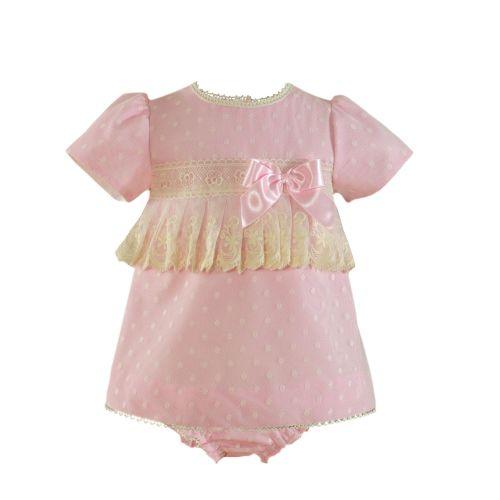 PRE ORDER SS21 Girls Miranda Pink and Cream Dress and Pants 28