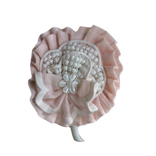 PRE ORDER SS21 Girls Miranda Pink and Cream Headband 226