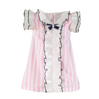 Girls Miranda Pink and White Dress 402