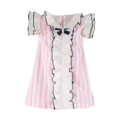 PRE ORDER SS21 Girls Miranda Pink and White Dress 402