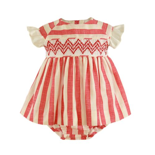 PRE ORDER SS21 Girls Miranda Red and White Dress and Pants 44