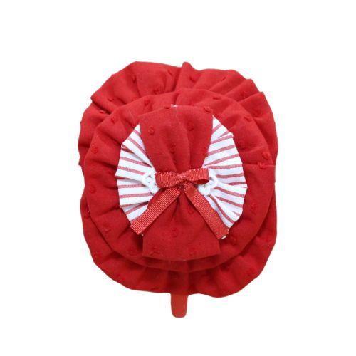 PRE ORDER SS21 Girls Miranda Red and White Headband 253