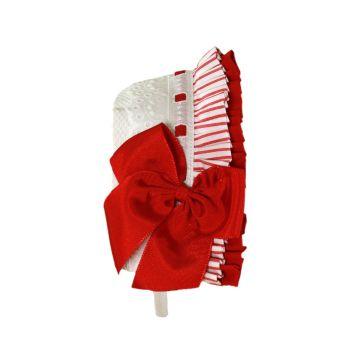 Girls Miranda Red and White Headband 295