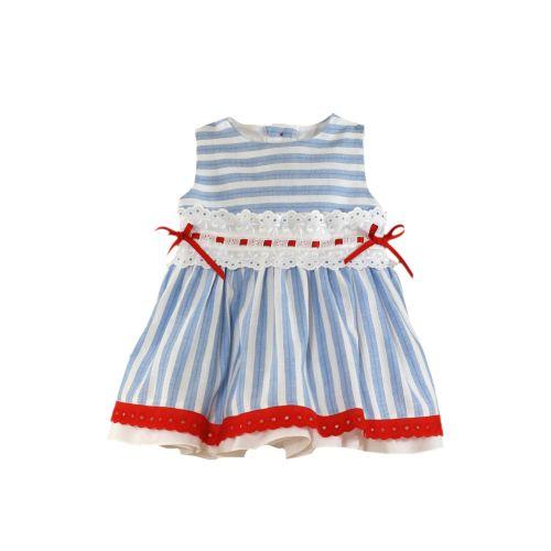PRE ORDER SS21 Girls Miranda Red, White and Blue Dress 189