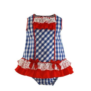 Girls Miranda Red, White and Blue Dress and Pants 72
