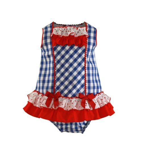 PRE ORDER SS21 Girls Miranda Red, White and Blue Dress and Pants 72
