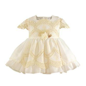 Girls Miranda White and Cream Dress 123