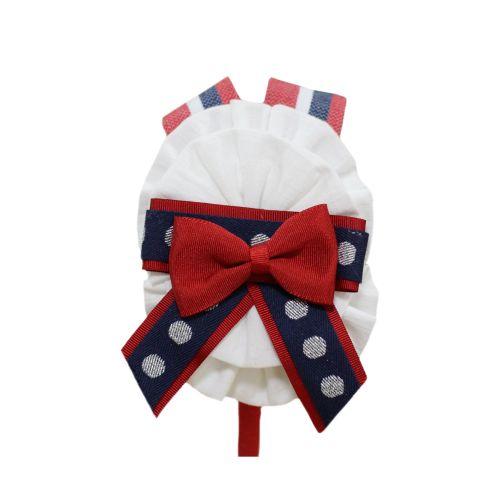 PRE ORDER SS21 Girls Miranda Red, White and Navy Headband 283