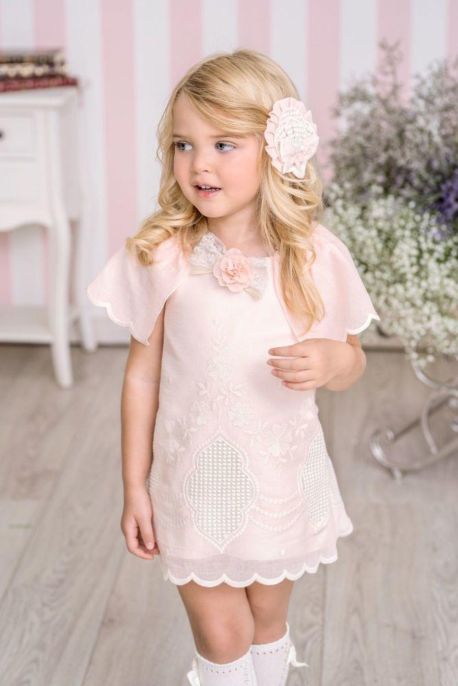 PRE ORDER SS21 Girls Miranda Pink and Cream Dress 227