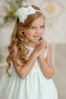 Girls Miranda Mint and Cream Dress 242