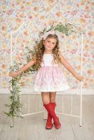 Girls Miranda Red and White Dress 252